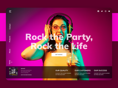 Party Manager movies trend website web online designs new design ux ui