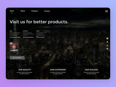 Online Products website minimal web branding trend online design designs new ux ui
