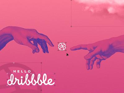 Hello Dribbble debut shot hello first shot debut