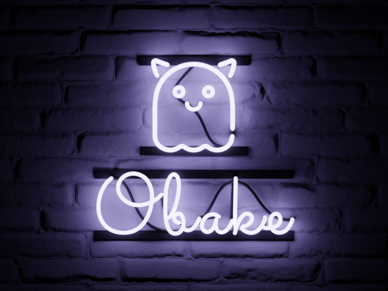 Neon sign neon sign ghost 3d b3d