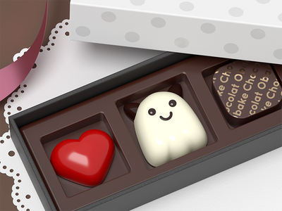Ghost chocolate chocolate ghost 3d b3d
