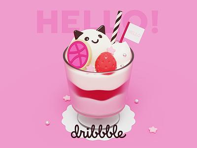 Dribbble Sundae ghost parfait sundae b3d 3d debut
