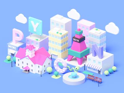 PyCon mini Sapporo town python b3d 3d