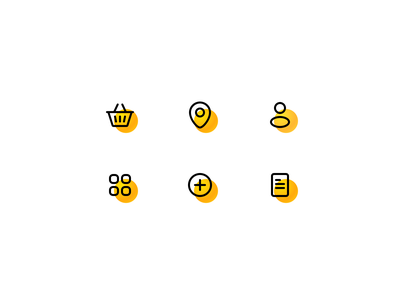 Line Icons website line simple bright illustration app andriod ios ecommerce shopping icons