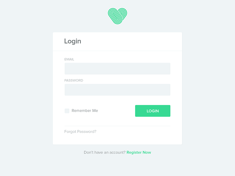 Biostrap Login Form by Sheikh Noor on Dribbble