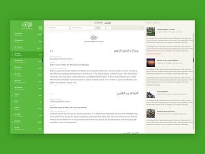 Quran ux ui website dashboard muslim holy quran