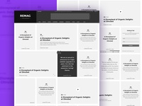 Magazine Wireframes
