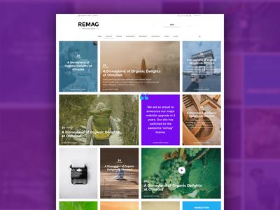 Magazine Theme WIP development web design listing featured post news blog page website magazine wordpress theme