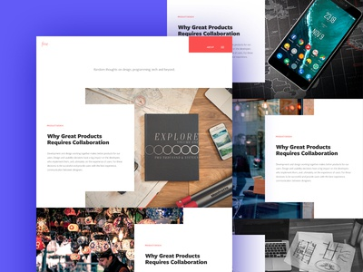 Studio Journal layout wordpress website studio journal article post creative theme blog