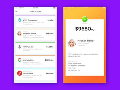Wallet App wallet transaction payment money ios fintech finance bank app account