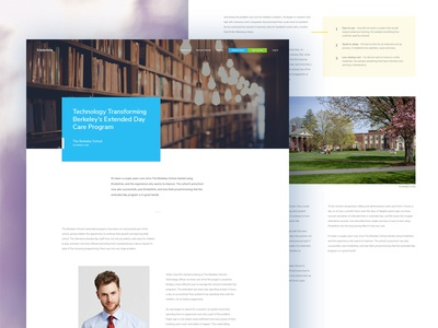 Success Story story telling information architecture saas school childcare case study success story wp wordpress website