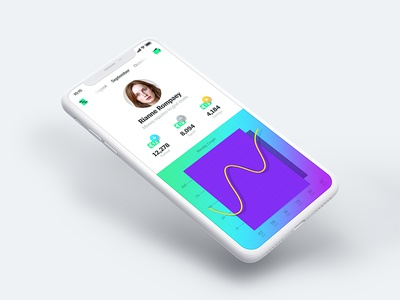 Personal Finance App dashboard profile colorful charts graph fintech account finance iphonex ios app