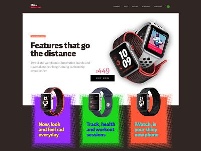 Style Shop clean bold ux ui iwatch brutal modern ios app website ecommerce shop
