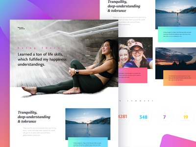 Travel Stories - WIP wordpress bold strong colorful woman stylish clean modern journal blog website travel story