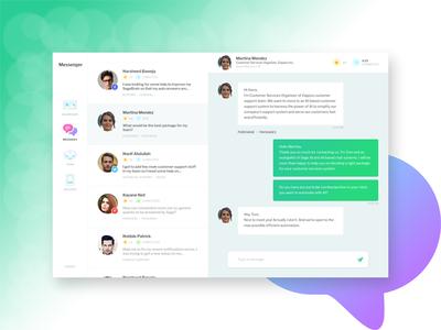 Customer Support Chatting exploration webapp app dashboard customer support cs messaging chat ai