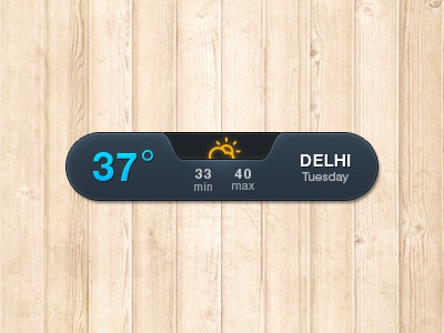 Weather Notifier 2 website webpage designer interface design interface design user interface neat subtle simple clean white temperature summer hot dhaka widget weather climacons ui icons
