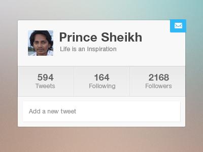 Twitter Widget twitter widgets ui interface profile webpage website iphone app ipad