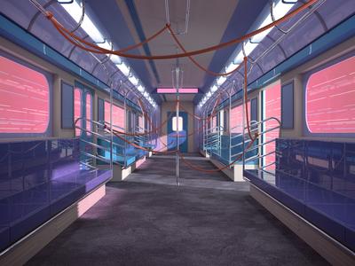 Train train design illustration 3d