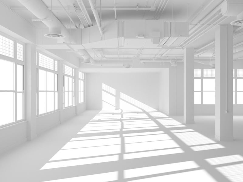 Blank Canvas design illustration 3d architecture interior