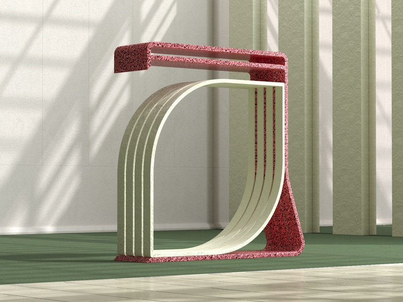 36 Days 'A' type shapes interior form abstract architecture cg design illustration 3d