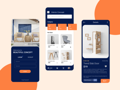 Interior App Design Exploration