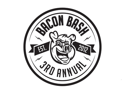 Bacon bash logo sticker design
