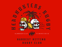 Headhunters Rugby T-shirt Design