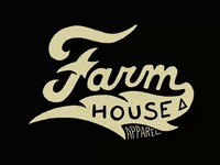 FarmHouse Apparel Hand Lettering Script