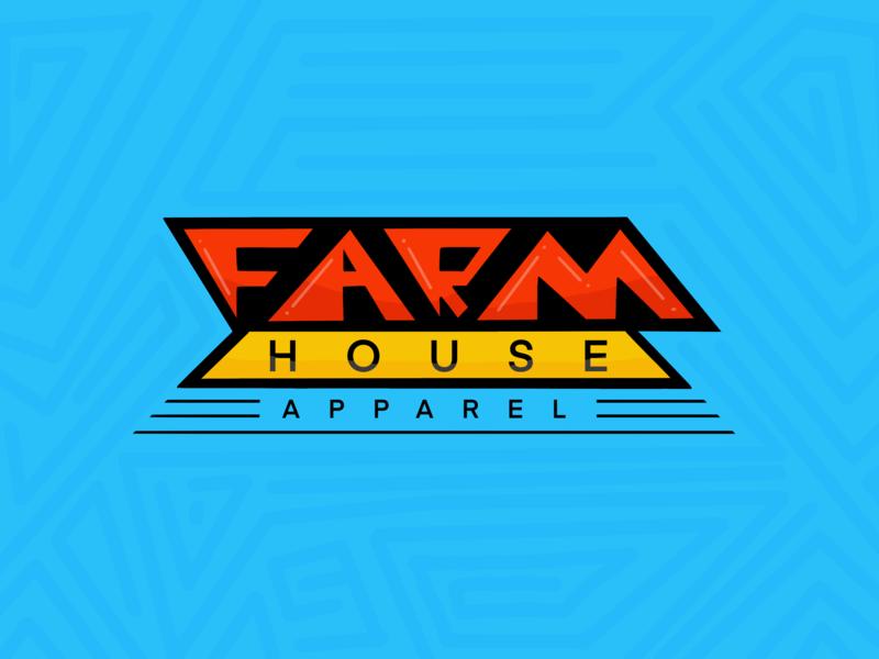 FarmHouse Apparel Triangle Letters procreate wip triangle doodle letter illustration custom screenprinting atlanta design typography type logo branding