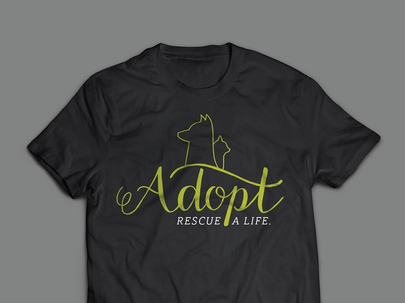 Adopt Tshirt pet art lettering hand lettering tshirt design
