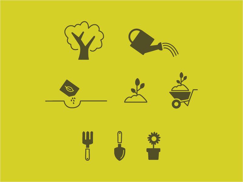 Parks & People Icons design illustration minimal design icon design icons