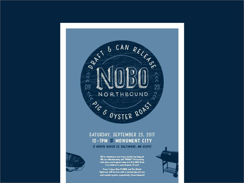 NOBO Poster event branding beer design lettering graphic design poster design