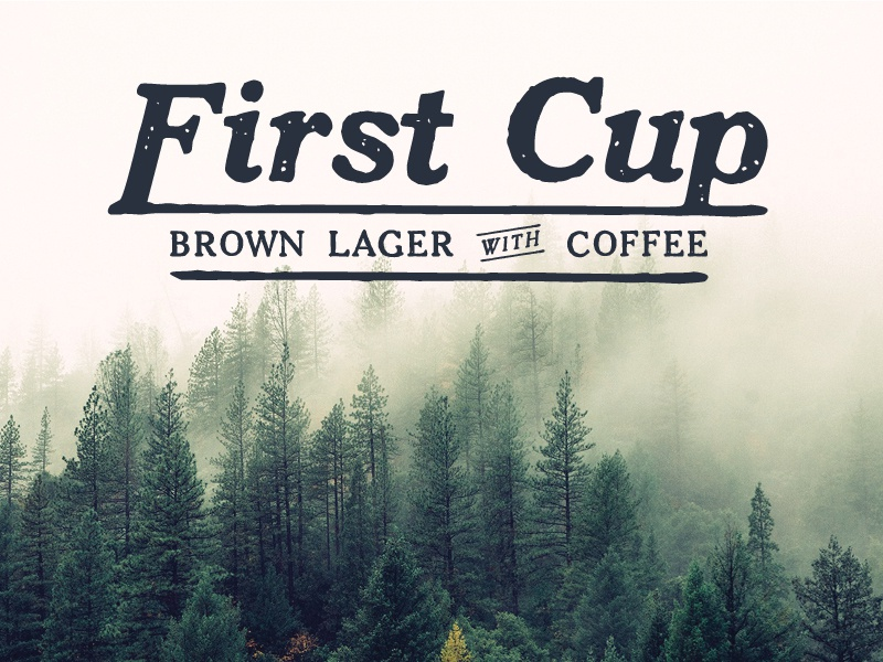 First Cup Final beer vintage lettering design branding