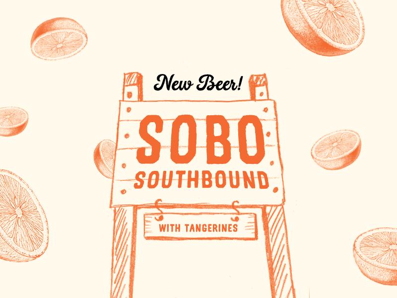 SOBO Beer Label social media label design beer vintage design branding