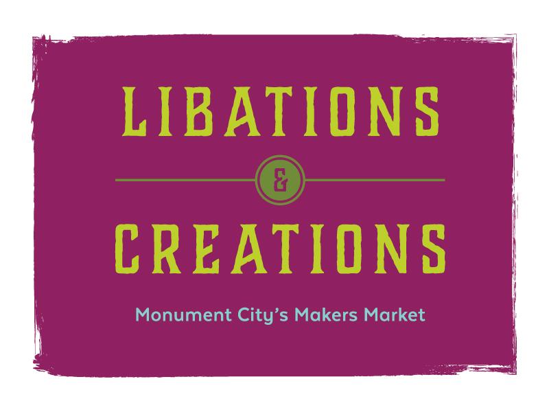 Libations & Creations Logo typography makers market design logo event branding branding