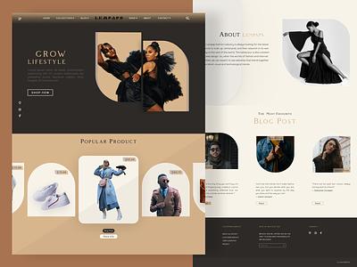Lempaps Fashion Website fashionshots userinterface websitefashion popularwebsite explorationswebsite uiuxdesign ui