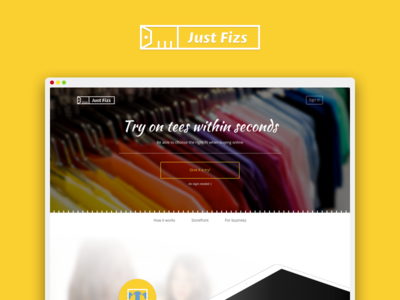 Justfizs redesign fitting room content scrollpage website typography layout homepage