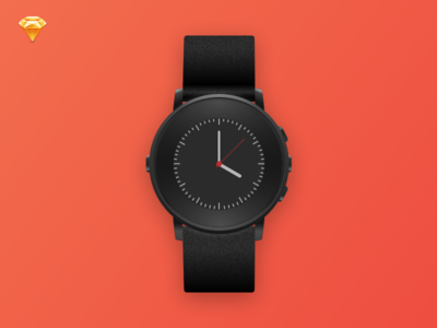 Pebble Time Round Sketch Template