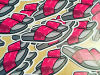 Slippers stickers