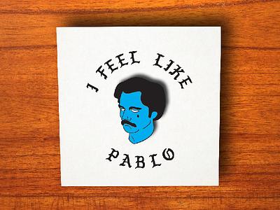 Sad Pablo Pin creative market enamel pin pablo escobar illustrator photoshop template