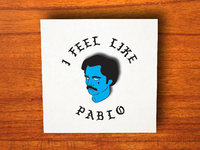 Sad Pablo Pin