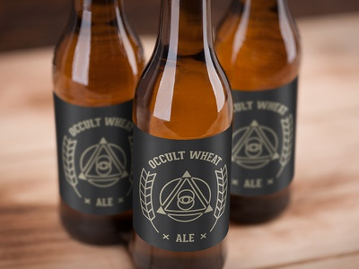 Occult Wheat wheat gold black branding magical magic third eye beerlabel beer wheat ale occult label design brand label