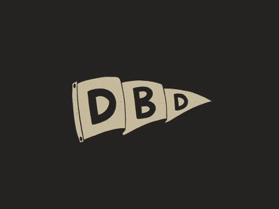 Dead Before Dyin' Pennant design simple procreate brand dead brands pennant flag flag drawing draw sketch illustration gold black dead before dyin dyin before dead pennant kreslet