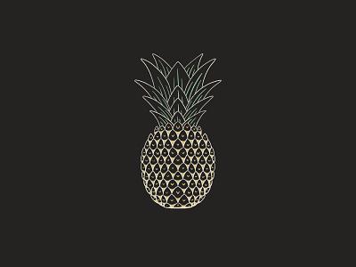 Pineapple drawing draw fruit illustration procreate simple illustration yellow green tropical fruit fruit pineapple line art line sketch design kreslet