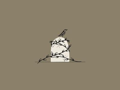 Live To Die traditional shading traditional illustration cracked illustration sketch graveyard dead death leaves traditional vine raven crow blackbird gravestone grave kreslet