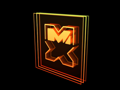 Design to the MX Neon design logo motion after effects illustration animation