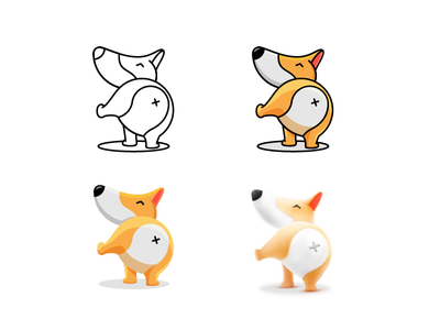 Doggo in styles animal mascot logo dog mascot icon illustration