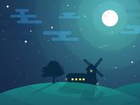 Night hill 1920x1080