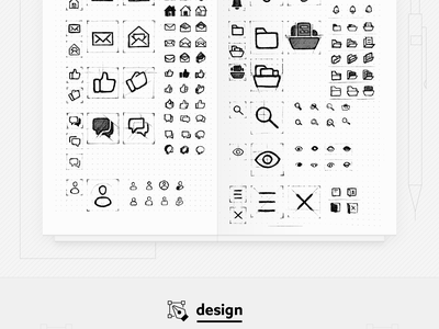 iconAnimation - Freebie home menu email view person chat search thumbs folders outline icon line icons micro interaction vector icon freebie illustration motion after effects animation