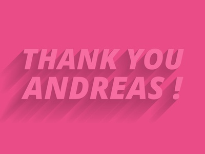 Thanks Andreas debuts thanks game